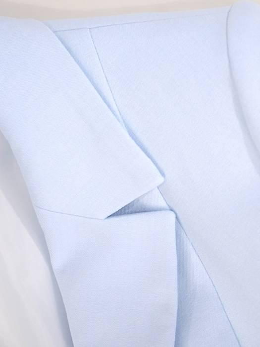 Garnitur damski, błękitny komplet spodnie z żakietem 29724