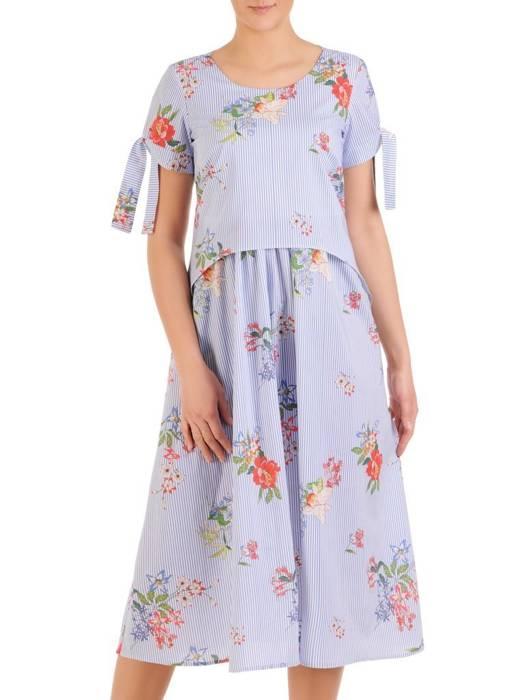 Sukienka damska, wizytowa kreacja w luźnym fasonie 29842
