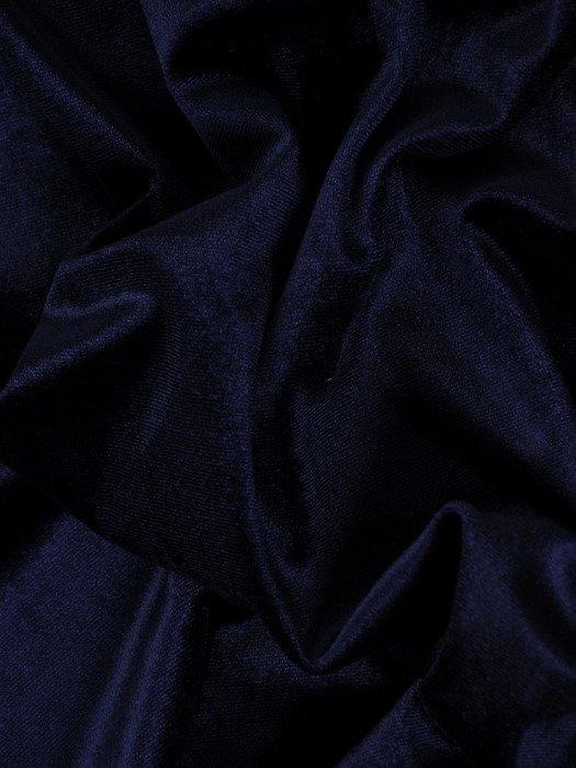 Aksamitna sukienka z kopertową zakładką, kreacja z modnym wykończeniem 19136