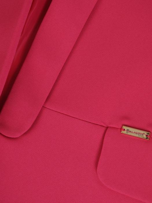 Amarantowy żakiet z tkaniny 21046.