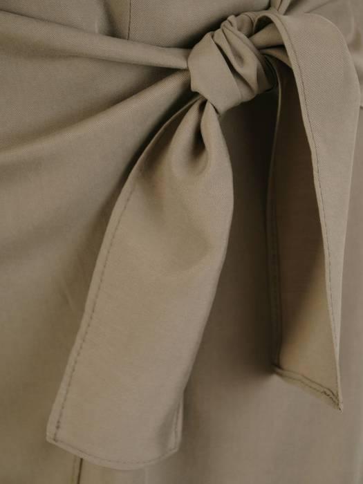 Asymetryczna spódnica z ozdobnym wiązaniem 30092