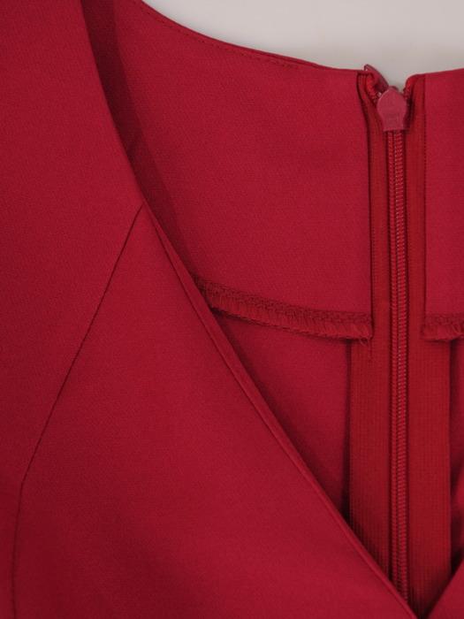 Asymetryczna sukienka z kopertowym dekoltem 22258