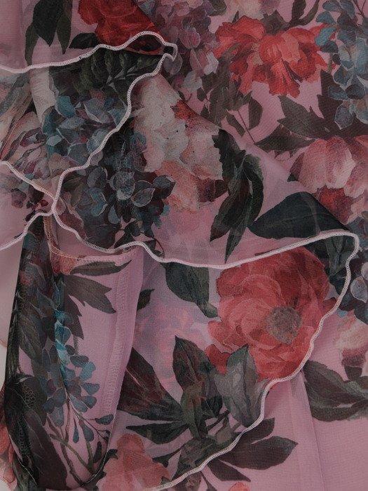 Asymetryczna tunika z modnymi rękawami 17262.