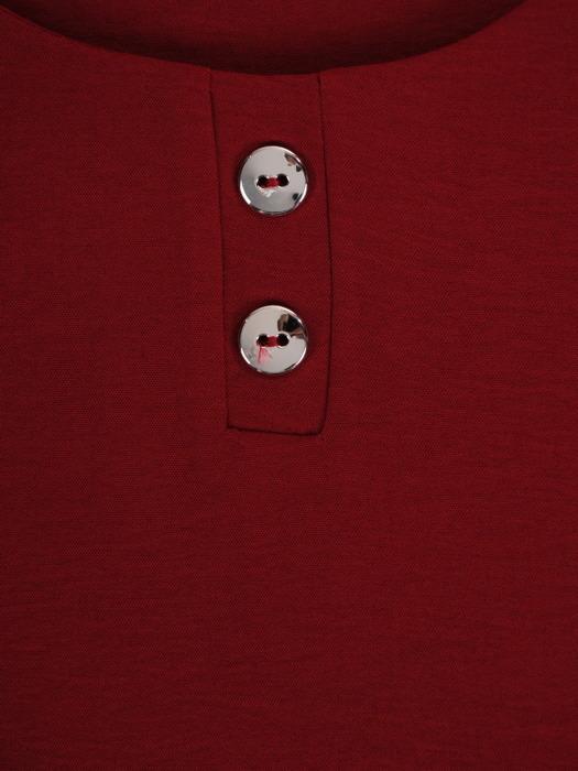 Bawełniana bluzka z luźnymi, podwijanymi rękawami 22099