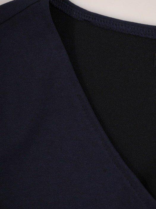 Bawełniana sukienka z dzianiny, kreacja w wyszczuplającym fasonie 24372