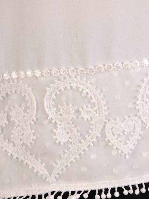 Biała, elegancka bluzka z koronkowymi wstawkami 29105
