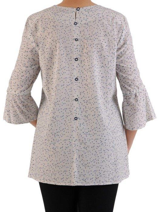 Bluzka damska z falbanami na rękawach 24468