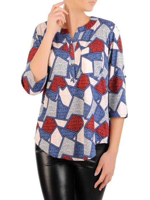 Bluzka damska z guzikami na dekolcie 30979