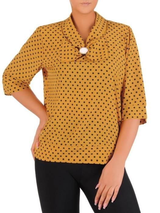 Bluzka damska z ozdobną kokardą 27201