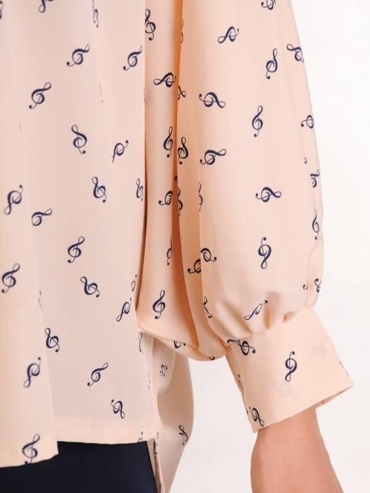 Bluzka damska z przedłużanym tyłem 29478