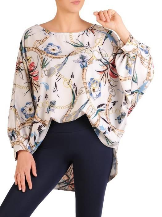 Bluzka damska z przedłużanym tyłem 29479