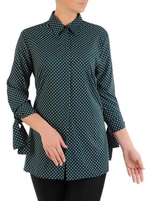 Bluzka koszulowa w drobne, kontrastowe groszki 24467