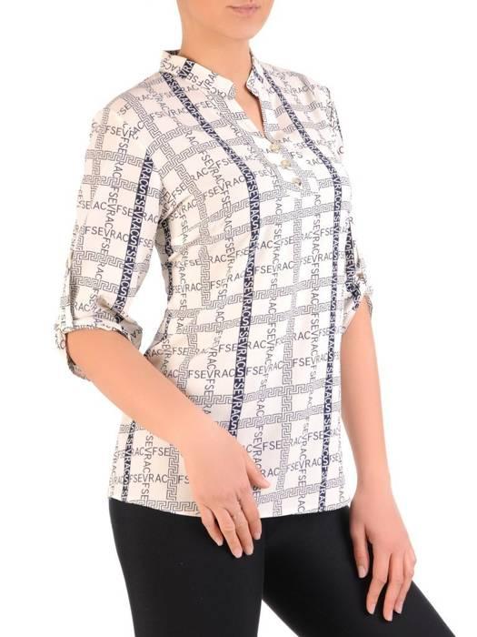 Bluzka koszulowa ze stójką 29562