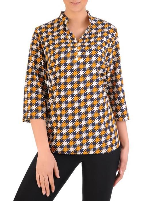 Bluzka koszulowa ze stójką 29566