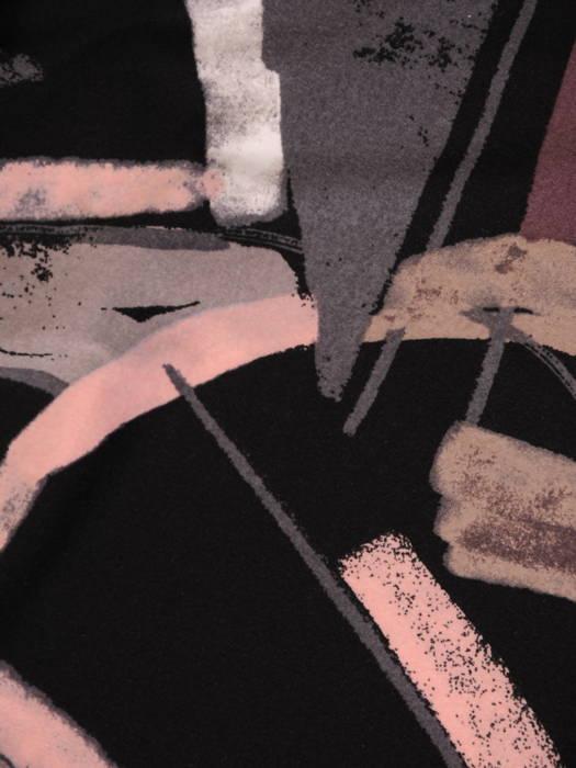 Bluzka, tunika w oryginalny wzór z rozpinanym dekoltem 30986