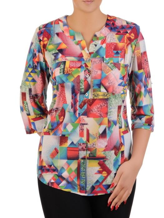 Bluzka w geometrycznym wzorze 21257.