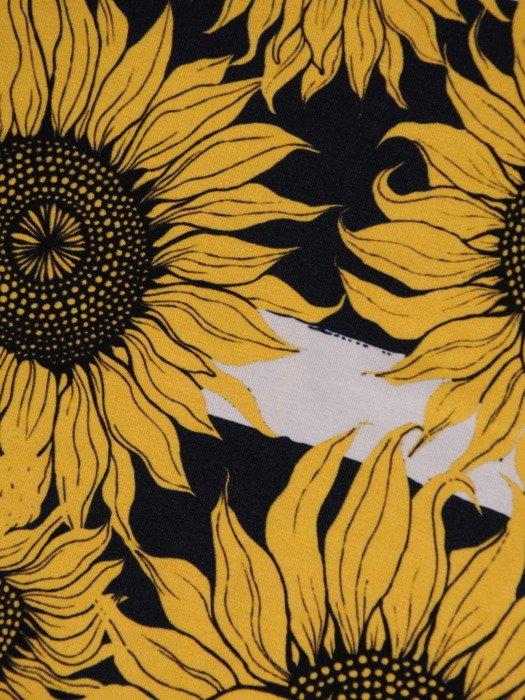 Bluzka z kontrastowym, kwiatowym nadrukiem 20298