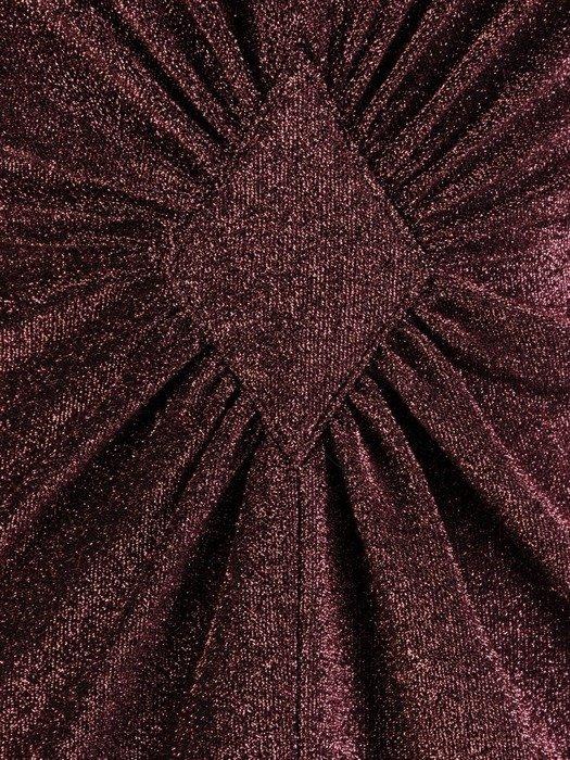 Błyszcząca sukienka z ozdobnym marszczeniem w talii 23756