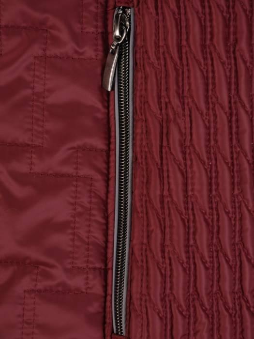 Bordowa kurtka damska z ozdobnym futerkiem 27876