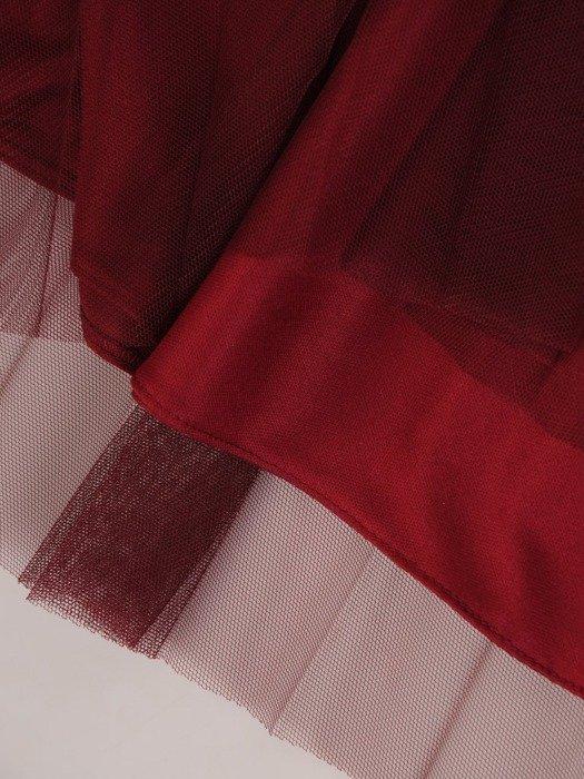 Bordowa tiulowa spódnica 24841