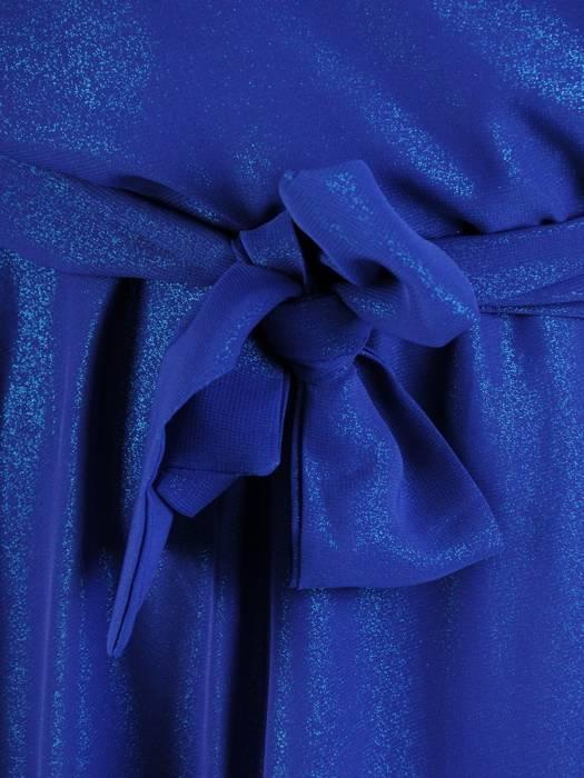 Chabrowa sukienka damska, połyskująca długa kreacja 27998