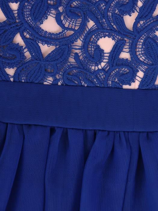 Chabrowa sukienka z tiulowym wykończeniem, oryginalna kreacja wieczorowa 27467