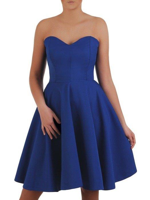 Chabrowa wieczorowa mini sukienka gorsetowa 24918