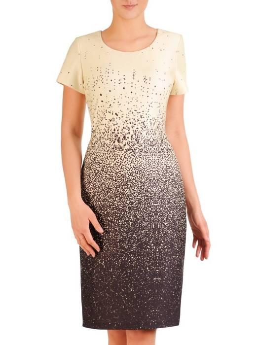 Cieniowana, prosta sukienka w kolorze pastelowym 29813