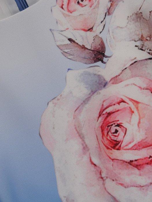 Cieniowana sukienka z kwiatowym nadrukiem 17058