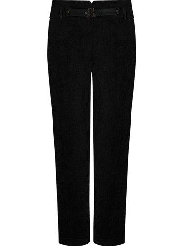 Czarne spodnie z atrakcyjnej tkaniny Żanna.