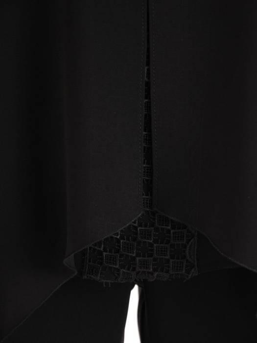 Czarny komplet damski, eleganckie spodnie z luźną bluzką 26969