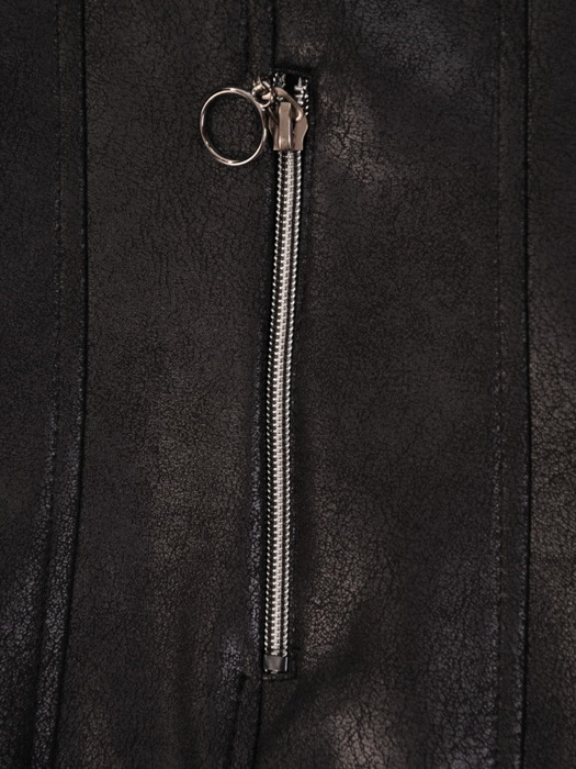 Czarny żakiet z metalowymi suwakami 21435