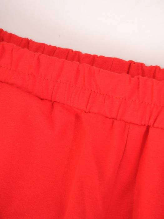 Czerwony dres damski, wygodne spodnie z bluzą zapinaną na zamek 29636