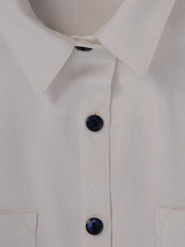 Długa, luźna koszula z kołnierzykiem 15860.