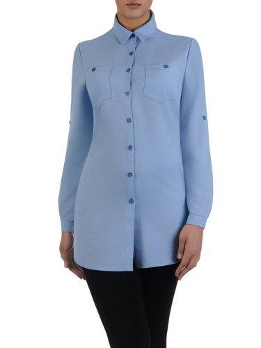 Długa, luźna koszula z kołnierzykiem 16011.