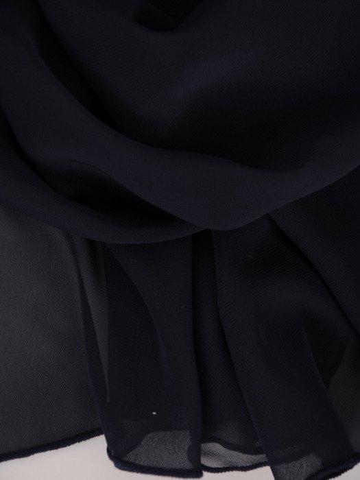 Długa, rozkloszowana suknia z kontrastowym topem 18665