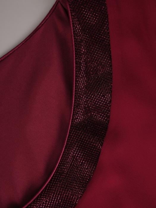 Długa sukienka z szyfonu, kreacja z modną narzutką 22108