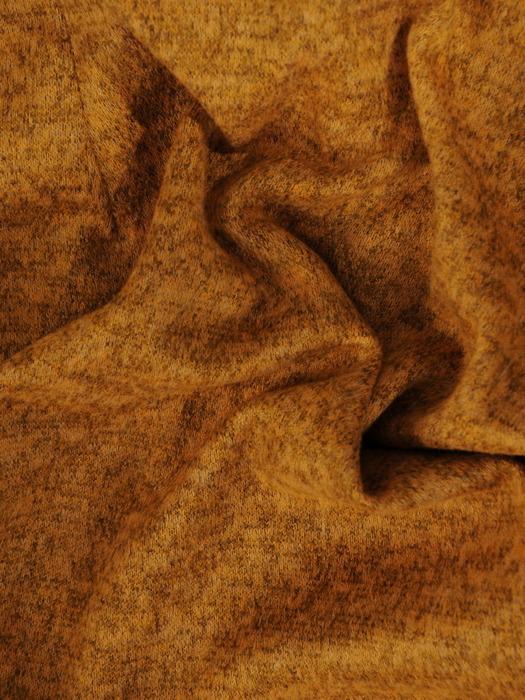 Długi, melanżowy sweter z metalowym suwakiem 22312