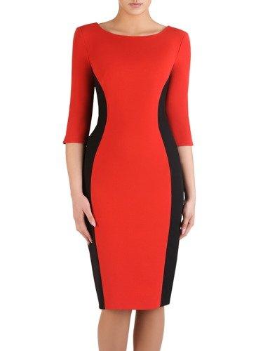 Dwukolorowa sukienka wyszczuplająca Aurora II, modna kreacja modelująca figurę.