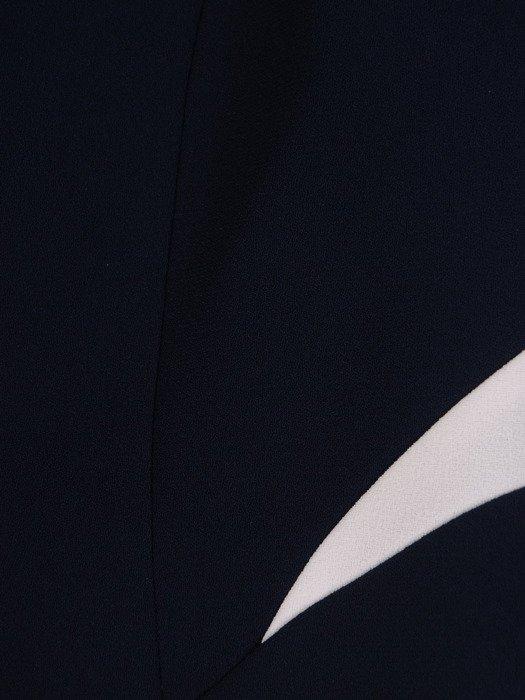 Dwukolorowa sukienka z nowoczesnym żakietem 17126, modny kostium wizytowy.