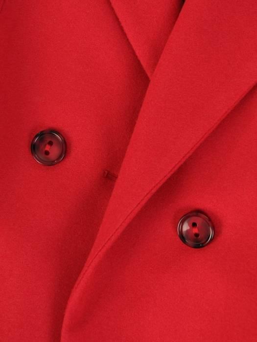 Dwurzędowy płaszcz damski w kolorze czerwonym 28524