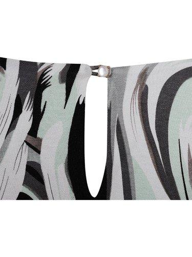 Dzianinowa bluzka z graficznym motywem Bernadetta