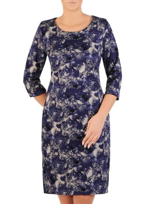 Dzianinowa, prosta codzienna sukienka na jesień 27628