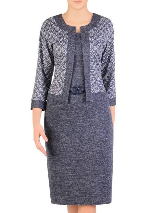 Dzianinowa sukienka, kreacja z imitacją żakietu 29335