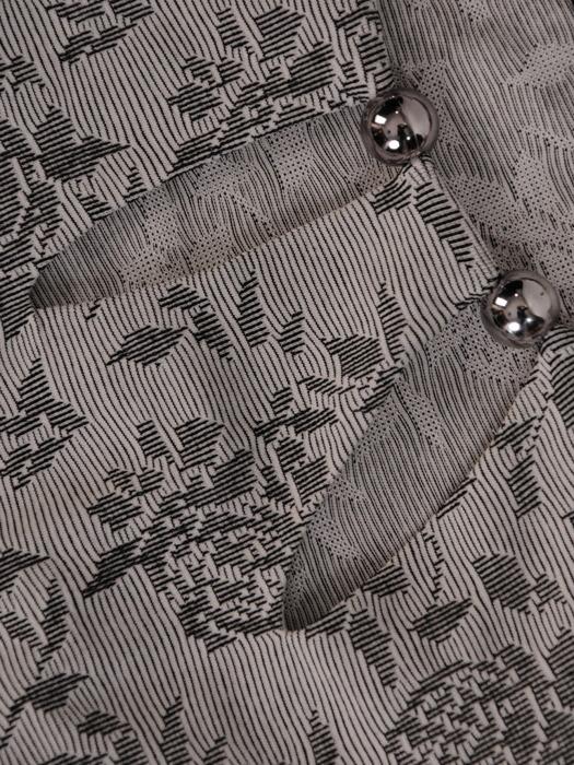 Dzianinowa sukienka z ozdobnymi wycięciami przy dekolcie 20881