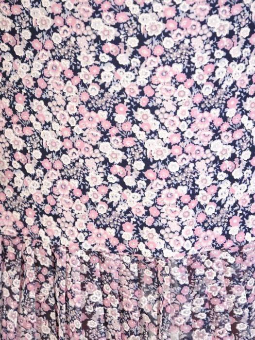 Dzianinowa sukienka z szyfonowymi rękawkami i plisami 30135
