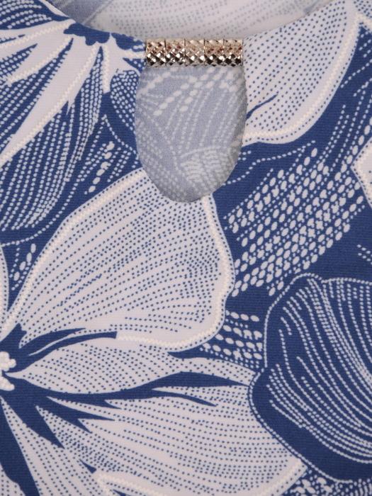 Dzianinowy komplet w eleganckie kwiaty 21403