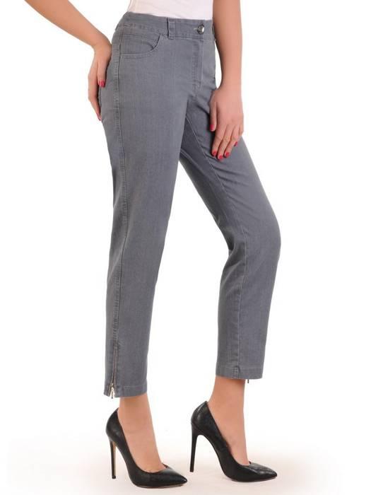 Dżinsowe, szare spodnie z prostymi nogawkami 29136