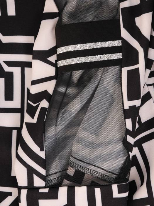 Efektowna bluzka z ozdobnymi rękawami 29617