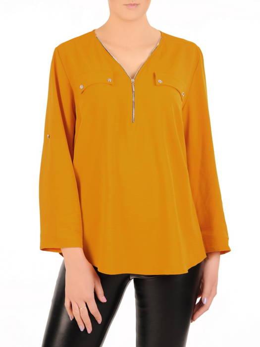 Elegancka bluzka damska z zamkiem na dekolcie 30992